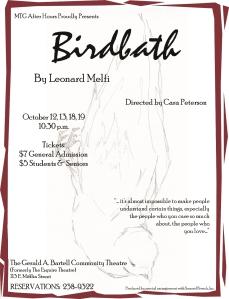 Birdbath Poster 2