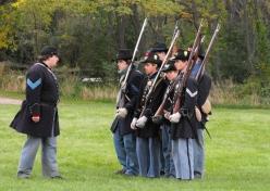 34 - an officer commands